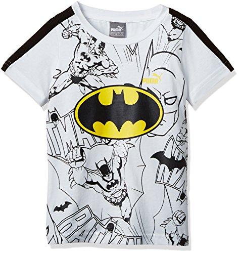 PUMA T-shirt da bambino Batman Tee, White, 104, 839672 02