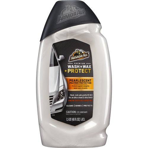 Armor All – PREMIUM Wash and Wax + Protect – Pearlescent Polymer Protection – 1.5QT / 48 FL Oz / 1.42 Ltrs