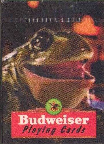 Budweiser Playing Cards with Laughing Frog - 1