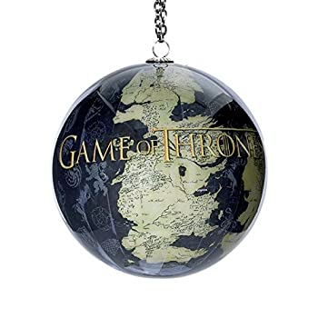 Game of thrones map of westeros decoupage ball christmas for Game of thrones garden ornaments