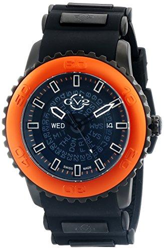 GV2 por 9704 Gevril de los hombres de la Aurora de Visualización analógico de cuarzo reloj de pulsera