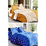 HOME ELITE 100% COTTON DOUBLE BEDSHEET WITH 2 PILLOW COVERS( SET OF 2)