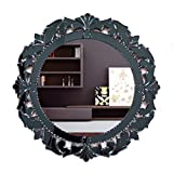 Venetian Design Wall Mirror VDS-27 Size 26x26 Inches Black Colour