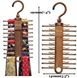 Tenby Tie Rack, Organizer, Hanger, Holder - 1 Unit - Affordable Tie Rack with Non-Slip Clips, Holds Securely up to 20 Ties