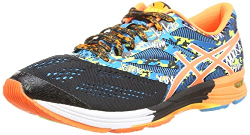 Asics Gel-Noosa Tri 10, Scarpe sportive, Uomo, Nero (Black/Flash Orange/Flash Yellow 9030), 42