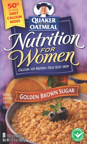 Buy Quaker Instant Oatmeal Goldn Brwn Sugar, Nutrition For Women, 12.9-Ounce Boxes (Pack of 6) (Quaker, Health & Personal Care, Products, Food & Snacks, Breakfast Foods, Cereals)
