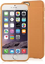 [Apple New iPhone 6 (4.7) Case] iXCC ® MX Pilot Series [Classy Fashion] Premium TPU Slim Fit Case, [Anti-Slip, Anti-Fall, Anti-Shock] Non Slip Rubber Bumper Protective Case, Shock Resistant, Back Cover with Screen Protector for iPhone 6 (4.7-inch) - Verizon, AT&T, Sprint, T-Mobile, International, and Unlocked [Brown]