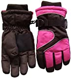 N'ice Caps Girls Thinsulate and Waterproof Reflector Piped Ski Glove
