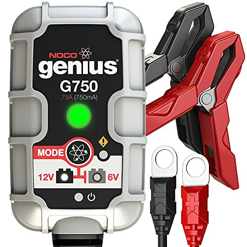 Genius G750 6V - 12V Float Battery Charger For Lawn Mowers