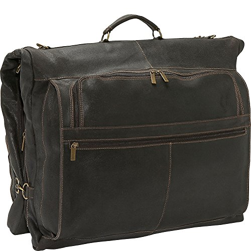 David King & Co. Distressed Leather Garment Bag