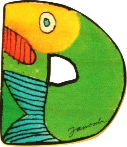 Janosch Holzbuchstabe D farblich sortiert