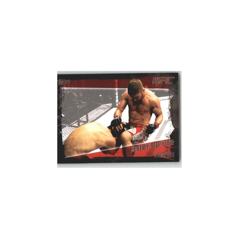 2010 Topps UFC Trading Card # 84 Jeremy Stephens (Ultimate