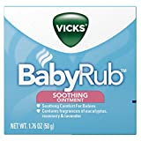 Vicks BabyRub Soothing Chest, Neck and Back Ointment, 1.76 Ounce (Pack of 6)