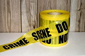 Yellow Crime Scene Tape 1000 Ft (Pack of 1)