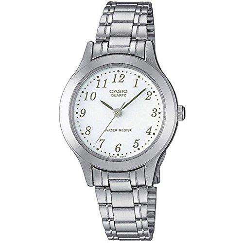 Casio  LTP-1128PA-7BEF - Reloj de cuarzo para mujer, con correa de acero inoxidable, color plateado