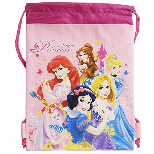 Disney Sweet Princess Pink Drawstring Bag - 1