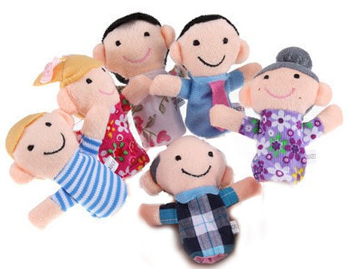 Family Finger Puppets – People Includes Mom, Dad, Grandpa, Grandma, Brother, Sister