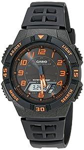 """Casio Men's AQS800W-1B2VCF """"Slim"""" Solar Multi-Function Ana-Digi Sport Watch"""