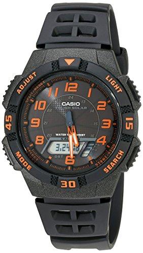 最白菜的太阳能,卡西欧 CASIO AQS800W 太阳能 多功能双显手表图片