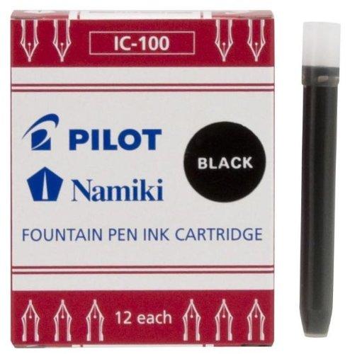 Pilot Namiki IC100 Fountain Pen Ink Cartridge, Black, 12 Cartridges per Pack (69100) (Fountain Pen And Inc compare prices)