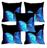meSleep Set of 5 Butterfly 3D Cushion Covers (16x16)