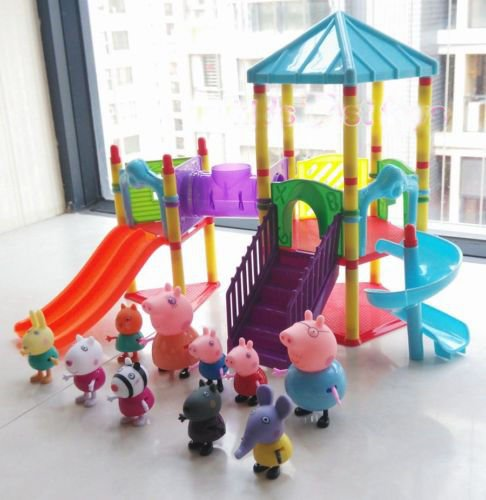 new-peppa-pig-big-sliding-amusement-park-with-10-friends-figures-kids-toys-gift
