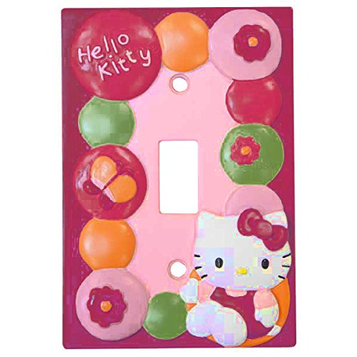Lambs & Ivy Hello Kitty Garden Switch Plate, Pink (Discontinued by Manufacturer) - 1