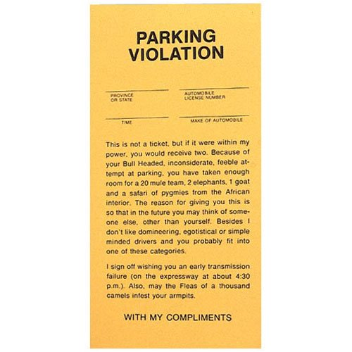 Fake Parking Tickets - Pad of 25 - 1