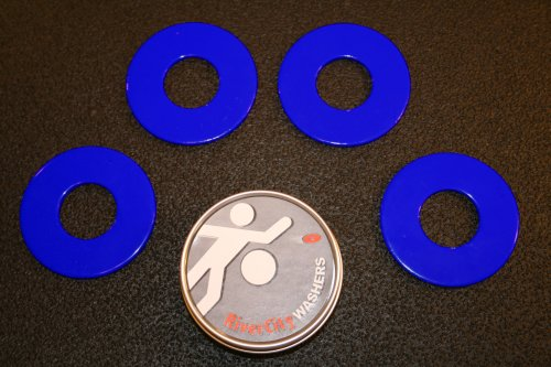 RiverCity Pitching Washers: (4) Blue with (1) Tin
