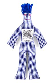 Dammit Doll – Classic Dammit Doll – Pillule Déchiquetée – Jagged Houndstooth Blue & White,…