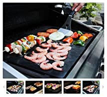 SPECIAL 50% OFF BLOWOUT SALE! - Set of 2 Highest Quality BBQ Grill & Baking Mats [As Seen on TV] | 100% Non-Stick | Reusable for Years | Made in FDA-Certified Facility | Free of PFOA | Works on Any BBQ Grill or as Oven Baking Pan Liners | Cut to Fit | Dishwasher Safe | Lifetime Guarantee with No-Hassle Refund If You Are Not 100% Satisfied!