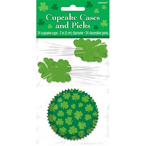 St. Patrick Cupcake Cases and Picks