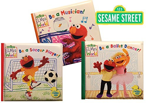 Sesame Street® Bath Time Bubble Books: Be a Ballet Dancer!, Be a Soccer Player!, Be a Musician!