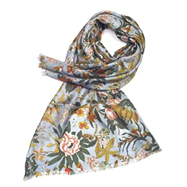 Chintz Silk Scarf (Grey Blue)||RF10F