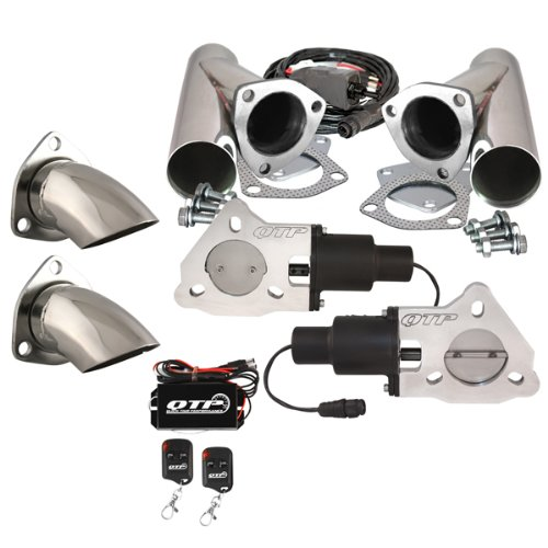 Dual Kit by QUICK TIME PERFORMANCE QTP QTEC Oval Electric Valve and Connection Pipe for 2-1//2 /& 3 Round Exhaust