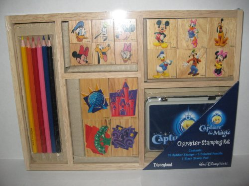 The Disneyland/ Walt Disney World Exclusive Capture the Magic Character Stamping Kit in Wood Tray