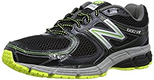 New Balance Men's M680V2 Running Shoe, Black/Yellow, 8.5 D US