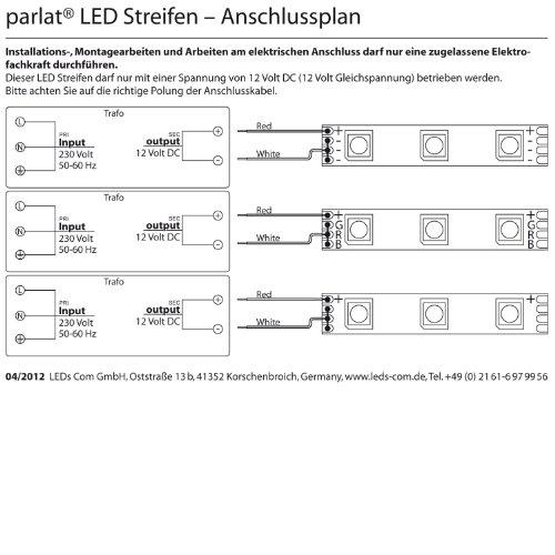 flexibler led streifen mit 300 weien smd5050 leds von parlat ip68 wasserdicht 12 volt dc 5 meter. Black Bedroom Furniture Sets. Home Design Ideas