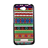 For HTC Desire 616 Hard Back Case Cover - Green & Red Craft