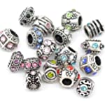 Ten Assorted Crystal Rhinestone Bead...