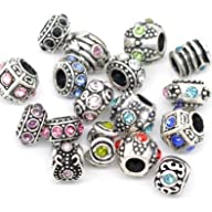 Ten Assorted Crystal Rhinestone Bead…