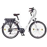 NCM Munich 2016,28 Zoll Elektrofahrrad Herren/Damen Unisex Pedelec,E-Bike,Trekking Rad, 36V 250W 14Ah Lithium-Ionen-Akku mit PANASONIC Zellen, weiß