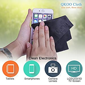 QKOO Microfiber Cleaning Cloths - 7 x 8 inches (18cm x 20cm)