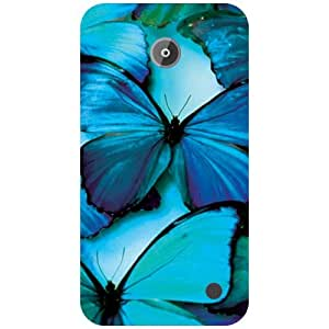 Printland Blue Soothing Back Cover For Nokia Lumia 630