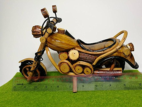 Thai Handmade Wooden Vintage motorbike, motorcycle model for home decoration Home Decor and Collectible