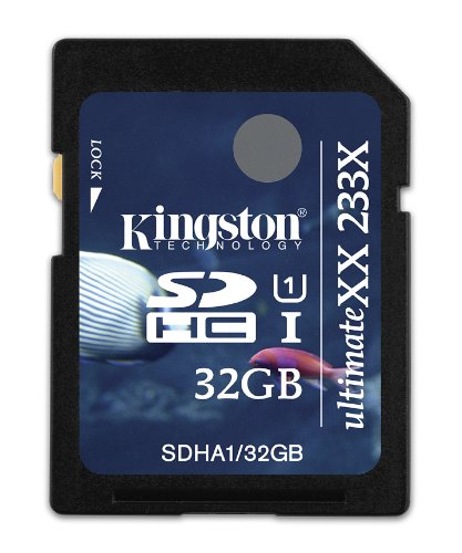 Kingston Digital, Inc. 32 GB Flash Memory Card SDHA1/32GB