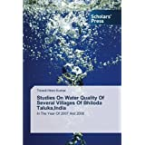 Studies On Water Quality Of Several Villages Of Bhiloda Taluka,India: In The Year Of 2007 And 2008