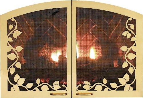 Leaf Arch 42 inch Firebox Doors VBR42SLHP - Hammered Pewter vitesse arch