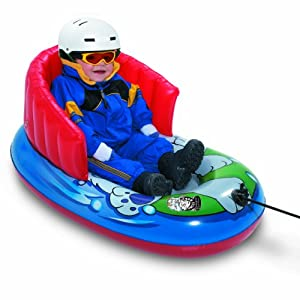 Buy Aqua Leisure Winter Inflatable Kiddie Character Tow and Pull Snow Tube Sled with Repair Kit and Sturdy Durable Wrap... by Aqua Leisure