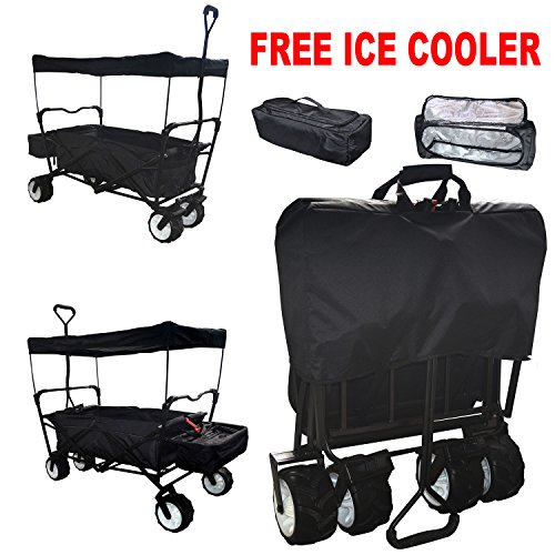 black-extra-big-jumbo-tires-all-purpose-free-ice-cooler-outdoor-sport-collapsible-folding-wagon-w-ca